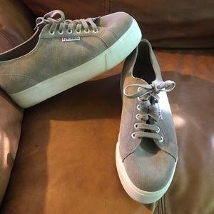 SUPERGA Suede Platform Sneaker
